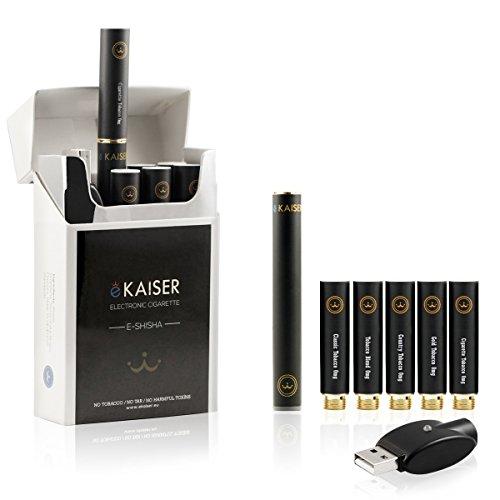 E-Zigarette Starterset | E-Shisha | Wiederaufladbar | 5 x