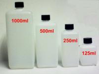 10 Stück 1000ml 1l Kunststoff PE HDPE Viereck Flaschen mit Deckel Leerflaschen.