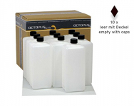 10 x 1000 ml Plastikflaschen, 1 Liter Kunststoffflaschen aus HDPE mit schwarzen Schraubverschlüssen, 1.000 ml Leerflaschen 10 Stück.