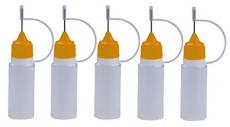 5 Stück Nadelflaschen mit ORANGE Nadelkappe- SmokerFuchs® Nadelcap – Leerflasche je 10 ml zum befüllen und mischen von Liquid.