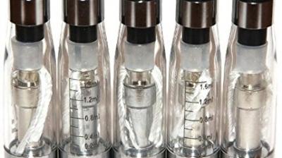 5x FUSION V3 CE5+ CLEAROMIZER (Atomizer-Verdampfer) 2.4 Ohm / 1.6 ml – mit langen Dochten – austauschbare Köpfe – für die elektronische Zigarette (e-Zigarette) EGO-T / EGO-C / EGO-W / 510 eGo Gewinde – KLAR.