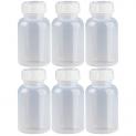 6 x 250ml Weithalsflasche / Laborflasche Naturfarben aus LDPE inkl. Schraubverschluss *** Weithalsflaschen, Laborflaschen, Plastikflasche, Kunststoffflasche, Plastikflaschen, Kunststoffflaschen ***.
