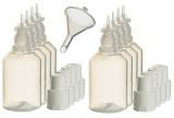 8 Stück 30ml Liquidflaschen incl. 1x Füll-Trichter – SmokerFuchs® – Leerflaschen je 30 ml zum befüllen und mischen von E-Liquid für elektrische Zigaretten.