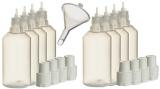 8 Stück 50ml Liquidflaschen incl. 1x Füll-Trichter – SmokerFuchs® – Leerflaschen je 50 ml zum befüllen und mischen von E-Liquid für elektrische Zigaretten.