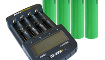 AccuPower High-End 18650 Akku Ladegerät IQ328+ inkl. 4x Sony US18650VTC5A.