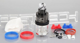 Authentic HCigar Fodi RDTA Rebuildable Dripping Tank Atomizer , 2.5ml / stainless steel + glass / 22mm diameter.