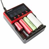 BONUSIS H4 Universal-4 Bay AA AAA C, Ni-MH Ni-Cd und 10440 18650 26650 Etc. Li-Ionen-LiFePO4 Akku-Ladegerät mit LCD-Display..