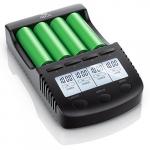 CSL – Power Akku Ladegerät | Universale Akku Ladestation / Intelligent Battery Charger | | beleuchtetes LCD-Display + Auto Light Off | inkl. 1x USB-Ladeport | Ladeüberwachung durch Mikroprozessorsteuerung | Batterie-Verpolungsschutz | Akkudefekterkennung.
