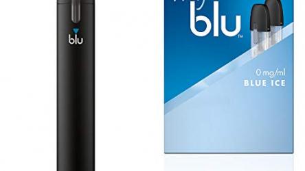 E-Zigarette Starter Set = 1x Batterieeinheit + 1x Podpack (siehe Auswahl) + Original myblu Zugaben + Farbwechsel für Vape Device – nikotinfrei (1 x Batterie-Einheit + Aroma Blue Ice)