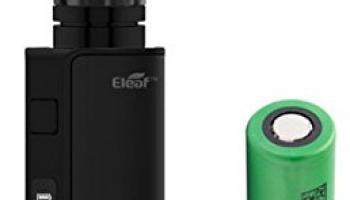 Eleaf iStick TC 60W mit Melo 3 Verdampfer 4ml Tank E-Zigarette + Sony Akku (schwarz).