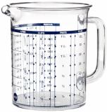Emsa 2217100000 Messbecher, 1 Liter, Transparent, Superline.