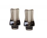 FLAT Crystal-Acryl Drip Tip, fit für ViVi Nova / DCT und 510 Clearomizer im 2er Sparpack (black)