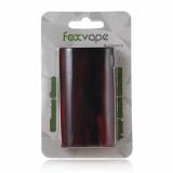 FOXVAPE 2Pcs Silikonhülle Silikon Case für Evic VTC Dual TC Box Mod 75/150 Watt Box Mod (Schwarz&Rot).