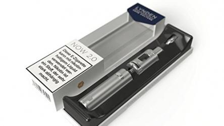LYNDEN® NOW 2.0 E Zigarette Starterset   Topfill   15W – 25W   2ml Tank   e Shisha Starterset   Elektronische Zigarette (Silber)