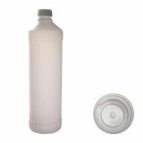 NB24 Verpackung 1 leere Flasche, 1000 ml, Kunststoff, Normalverschluss mit Innenkonusdichtung, Selbstabfüllen von Flüssigkeiten.