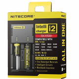 NiteCore NC i2 Version 2014 Intellicharge Akku Ladestation für Li-Ion/Ni-Mh/Ni-Cd (Output Current: 2x 500mA)
