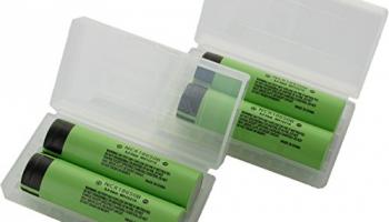 Panasonic NCR18650B_X4 Li-Ion Akku (3,7V, 3400mAh, 4-er Pack) inkl. Akkubox.