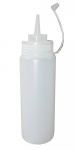 Quetschflasche 1 Liter PE Mayo Ketchup Dosier- Saucen Flasche 2 Stück.