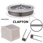 RBA Zubehör, Clapton-Draht auf Rolle + Bio-Baumwolle (Clapton 26/30GA)