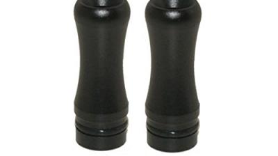 Round 510 Drip Tip im 2er Sparpack, fit für ViVi Nova / DCT und 510 Clearomizer, Schwarz