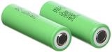 Samsung SDI INR18650-25R LiNiMnCoO2 Industriezelle Batterie (3,6 Volt, 2500mAh, 10C, 2er Pack) für Format 18650.