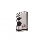 ShenRay Mod Akkuträger für E Zigaretten,26650 Schwarz Eiche Edelstahl Silber Mechanisch Mod Höllenjunge Fit für 1×18650