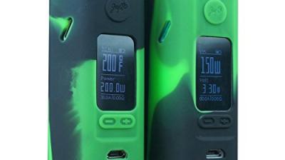 Silikon hülle, etui für Wismec Reuleaux RX2/3 von JayBo – beste qualität – authentische VampCase – 2 im Set (Schwarz/Grün).
