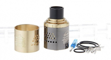 Temple Styled RDA Rebuildable Dripping Atomizer , stainless steel + copper / 30mm dia..