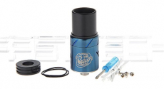 The Troll RDA Rebuildable Dripping Atomizer , stainless steel / 22mm diameter / blue.