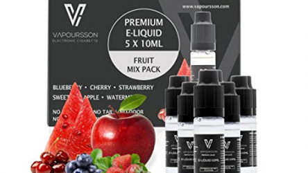 Vapoursson E-Liquid Früchte Mix Pack 5 x 10 ml