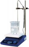 Witeg Magnetrührer MSH-20D-Set digital 180x180mm 380°C, mit Fühler und Halter, zum gleichzeitigen Mischen, Rühren und Erhitzen.