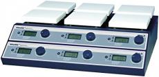Witeg Magnetrührer SMHS-6 mit 2×3 Stellen 350°C einzeln regelbar, zum gleichzeitigen Mischen, Rühren und Erhitzen.