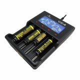 XTAR VC4 Ladegerät Premium-Li-Ion / Ni-MH Caloics® USB LCD Display Ladegerät Kompatibel mit Li-Ionen-Akku und Ni-MH-Akku.