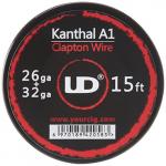 Youde UD Clapton Draht zum Selbstwickeln von Coils, Circa 4.5 m Rolle, 0.4 x 0.2 mm Durchmesser (26 x 32 awg), 1 Stück.