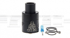 Zephyr Buddha V2 Styled RDA Rebuildable Dripping Atomizer , stainless steel / 28.5mm diameter.